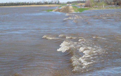 Even the best conservation measures could be thwarted by severe weather leading to floods like this one in North Dakota, 2013